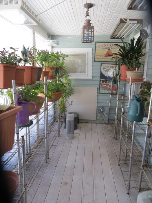 Enclosed front porch.