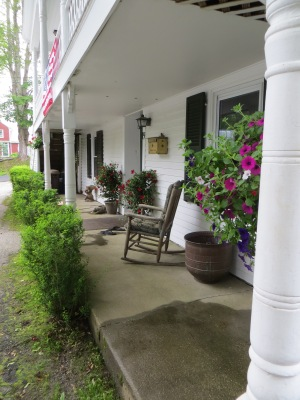 Lower level covered porch on Main House.