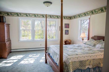 Master bedroom has walk in closet and en suite bathroom.